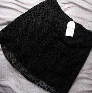 Black Leopard Sadie & Sage Skirt